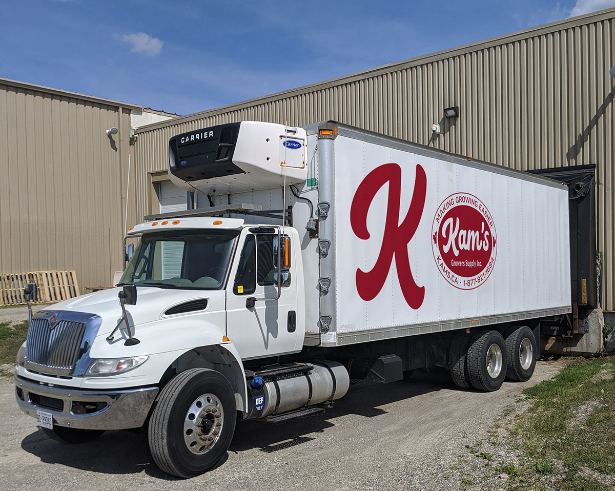 The Kam's truck with their new logo